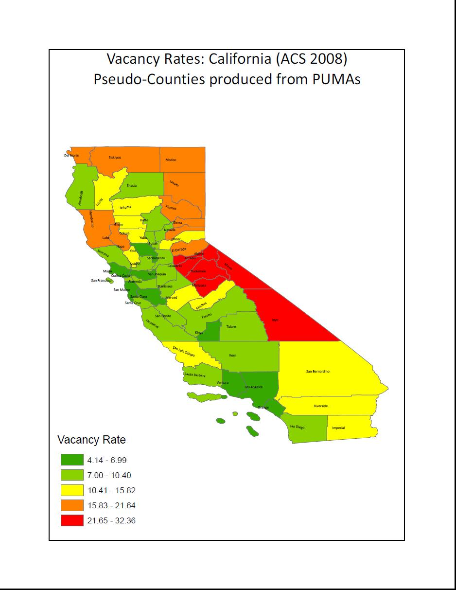 Creating County-Level Statistics from Public Use Microdata Areas (PUMAS)