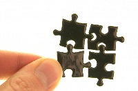 puzzle pieces almost together