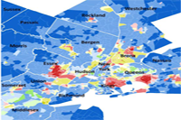 NYC metro area dominant race group map