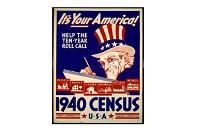Uncle Sam 1940 Census advertisement