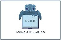 Ask a Librarian sign