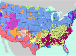 US map with minority distribution